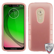 MyBat TUFF Hybrid Protector Cover [Military-Grade Certified] for Motorola Moto G7 Play - Rose Gold / Rose Gold
