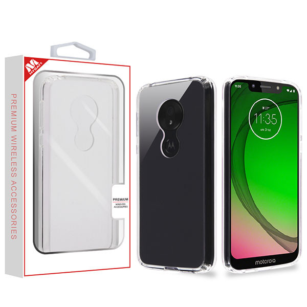 MyBat Sturdy Gummy Cover for Motorola Moto G7 Play - Highly Transparent Clear / Transparent Clear