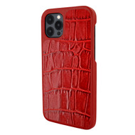 Piel Frama 856 Red Crocodile LuxInlay Leather Case for Apple iPhone 12 Pro Max