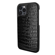 Piel Frama 856 Black Lizard LuxInlay Leather Case for Apple iPhone 12 Pro Max