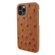 Piel Frama 856 Tan Ostrich LuxInlay Leather Case for Apple iPhone 12 Pro Max