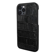 Piel Frama 856 Black Wild Crocodile LuxInlay Leather Case for Apple iPhone 12 Pro Max