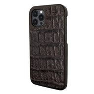 Piel Frama 856 Brown Wild Crocodile LuxInlay Leather Case for Apple iPhone 12 Pro Max
