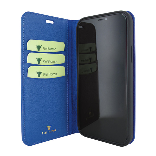 Piel Frama 860 Blue FramaSlimCards Leather Case for Apple iPhone 12 Pro Max