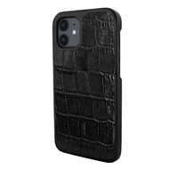 Piel Frama 861 Black Wild Crocodile LuxInlay Leather Case for Apple iPhone 12 mini