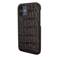 Piel Frama 861 Brown Wild Crocodile LuxInlay Leather Case for Apple iPhone 12 mini