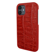 Piel Frama 861 Red Wild Crocodile LuxInlay Leather Case for Apple iPhone 12 mini