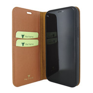 Piel Frama 865 Tan FramaSlimCards Leather Case for Apple iPhone 12 mini