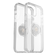 Otterbox - Otter  Pop Symmetry Case With Popsockets Swappable Popgrip for Apple iPhone 12 Pro Max - Clear