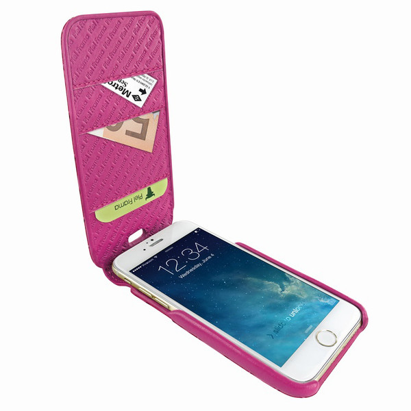 Piel Frama 765 Pink Crocodile iMagnumCards Leather Case for Apple iPhone 7 Plus / 8 Plus