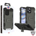 MyBat Storm Tank Hybrid Protector Case [Military-Grade Certified] for Apple iPhone 12 (6.1) - Dark Grey / Black