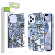 Airium Frame Hybrid Case for Apple iPhone 12 (6.1) - Grey Stone Marbling Grey