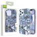 Airium Frame Hybrid Case for Apple iPhone 12 (6.1) - Grey Stone Marbling Grey