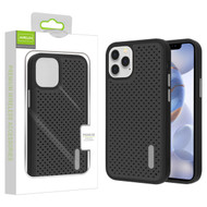 Airium Drilled Holes Hybrid Case for Apple iPhone 12 (6.1) - Black / Black