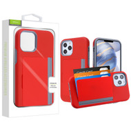 Airium Poket Hybrid Protector Cover for Apple iPhone 12 (6.1) - Red / Gray