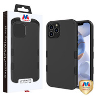 MyBat TUFF Subs Hybrid Case for Apple iPhone 12 (6.1) - Rubberized Black / Black