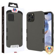 MyBat TUFF Subs Hybrid Case for Apple iPhone 12 (6.1) - Rubberized Gunmetal Gray / Black
