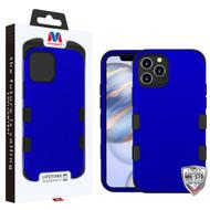 MyBat TUFF Hybrid Protector Case [Military-Grade Certified] for Apple iPhone 12 (6.1) - Titanium Dark Blue / Black