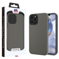MyBat Fuse Hybrid Protector Cover for Apple iPhone 12 (6.1) - Rubberized Gunmetal Gray / Black