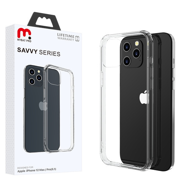 MyBat Pro Savvy Series Hybrid Case for Apple iPhone 12 (6.1) - Transparent Clear / Transparent Clear