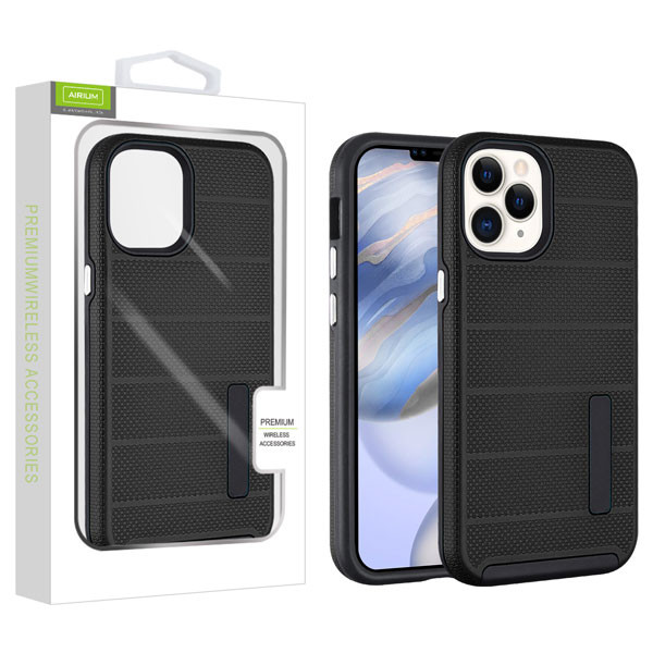 Airium Fusion Protector Case for Apple iPhone 12 (6.1) - Black Dots Textured / Black