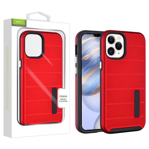 Airium Fusion Protector Case for Apple iPhone 12 (6.1) - Red Dots Textured / Black