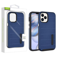 Airium Fusion Protector Case for Apple iPhone 12 (6.1) - Ink Blue Dots Textured / Black