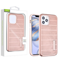 Airium Fusion Protector Case for Apple iPhone 12 (6.1) - Rose Gold Dots Textured / Rose Gold