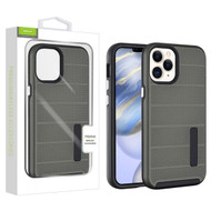 Airium Fusion Protector Case for Apple iPhone 12 (6.1) - Gunmetal Gray Dots Textured / Black