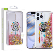 Airium Quicksand Glitter Hybrid Protector Cover for Apple iPhone 12 (6.1) - Dreamcatcher & Gold Stars