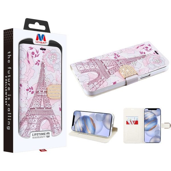 MyBat MyJacket Wallet Diamond Series for Apple iPhone 12 (6.1) - Eiffel Tower