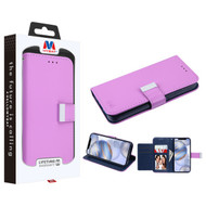 MyBat MyJacket Wallet Xtra Series for Apple iPhone 12 (6.1) - Purple / Dark Blue