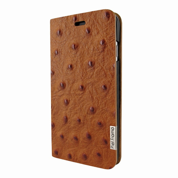 Piel Frama 762 Tan Ostrich FramaSlimCards Leather Case for Apple iPhone 7 / 8