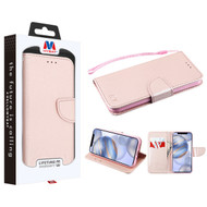 MyBat Liner MyJacket Wallet Crossgrain Series for Apple iPhone 12 (6.1) - Rose Gold Pattern / Rose Gold