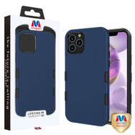MyBat TUFF Subs Hybrid Case for Apple iPhone 12 Pro Max (6.7) - Rubberized Ink Blue / Black