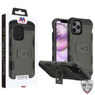 MyBat Storm Tank Hybrid Protector Case [Military-Grade Certified] for Apple iPhone 12 Pro Max (6.7) - Dark Grey / Black