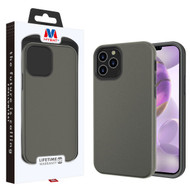 MyBat Fuse Hybrid Protector Cover for Apple iPhone 12 Pro Max (6.7) - Rubberized Gunmetal Gray / Black