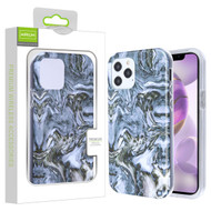 Airium Frame Hybrid Case for Apple iPhone 12 Pro Max (6.7) - Grey Stone Marbling Grey