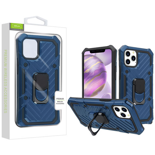Airium Hybrid Case (with Ring Stand) for Apple iPhone 12 Pro Max (6.7) - Dark Blue / Black