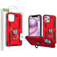 Airium Anti-Drop Hybrid Protector Case (with Ring Stand) for Apple iPhone 12 Pro Max (6.7) - Red / Black