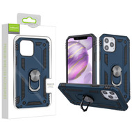 Airium Anti-Drop Hybrid Protector Case (with Ring Stand) for Apple iPhone 12 Pro Max (6.7) - Ink Blue / Black