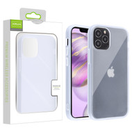 Airium Frost Hybrid Protector Cover for Apple iPhone 12 Pro Max (6.7) - Semi Transparent White Frosted / Rubberized Semi Transparent White