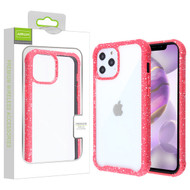 Airium Splash Hybrid Case for Apple iPhone 12 Pro Max (6.7) - Highly Transparent Clear / Red