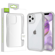 Airium Hybrid Case for Apple iPhone 12 Pro Max (6.7) - Highly Transparent Clear / Semi Transparent White