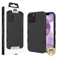 MyBat TUFF Subs Hybrid Case for Apple iPhone 12 Pro Max (6.7) - Rubberized Black / Black