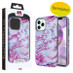 MyBat Fuse Hybrid Protector Cover for Apple iPhone 12 Pro Max (6.7) - Electroplated Purple Marbling / Iron Gray