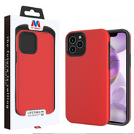 MyBat Fuse Hybrid Protector Cover for Apple iPhone 12 Pro Max (6.7) - Rubberized Red / Black