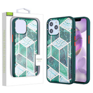 Airium Hybrid Case for Apple iPhone 12 Pro Max (6.7) - Green Marbling / Green