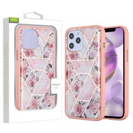 Airium Hybrid Case for Apple iPhone 12 Pro Max (6.7) - Roses Marbling / Pink