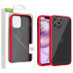 Airium Frost Hybrid Protector Cover for Apple iPhone 12 Pro Max (6.7) - Semi Transparent Smoke Frosted / Rubberized Red